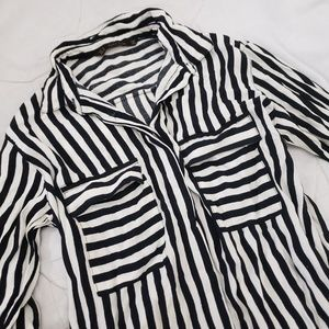Zara Basic Striped Button up
